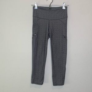 Athleta workout Leggings size XS Grey and Black